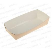 Картонная упаковка для хот-догов, 180×80×30 мм, бурая