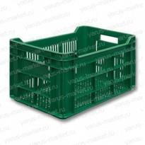 Пластиковый ящик, 500x300x264 мм., перфорированный, для перевозки овощей
