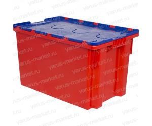 Пластиковый ящик, 600x400x300 мм., с крышкой, для мяса