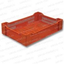 Пластиковый ящик, 600x400x135 мм., для ягод