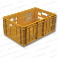 Пластиковый ящик, 600x400x250 мм., для перевоза овощей