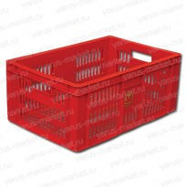 Пластиковый ящик, 600x400x250, для хранения и перевозки хлеба
