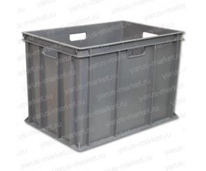Пластиковый ящик, 600х400х410 мм., сплошной, для овощей и фруктов