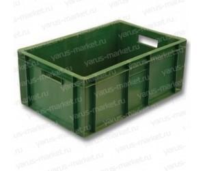 Пластиковый ящик, 600x400x250 мм., для мяса, зеленый