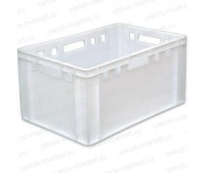 Пластиковый ящик, 600x400x300 мм., для хранения и охлаждения мяса