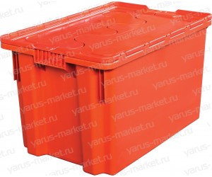 Пластиковый ящик, 600x400x350 мм., для перевозки продукции