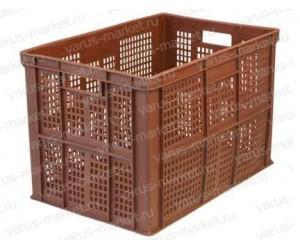 Пластиковый ящик, 600х400х410 мм., для овощей и фруктов