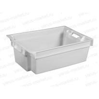 Пластиковый ящик, 600x400x200 мм., для мяса и рыбы