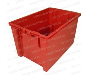 Пластиковый ящик, 600x400x300 мм., для хранения и перевозки мяса