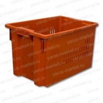 Износостойкий пластиковый ящик, 600×400×350мм., для хлеба, с крышкой