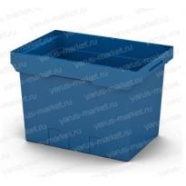 Пластиковый ящик 600х400х420 для разного вида товара, синий