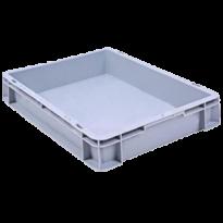 Сплошной ящик 400х300х75 для хранения продукции на складе