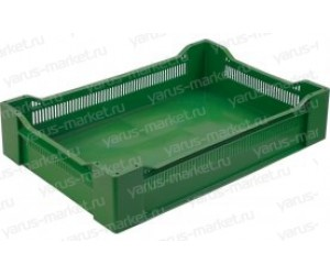 Пластиковый ящик, 600x400x135 мм., для перевозки кондитерских изделий