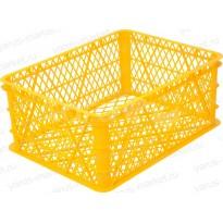Пластиковый ящик, 430x330x180 мм., для фруктов, желтый