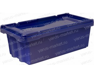 Пластиковый ящик, 600x300x190 мм., конусный, для хлеба