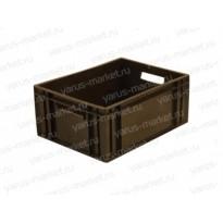 Пластиковый ящик, 400х300х180 мм., для хранения замороженного мяса