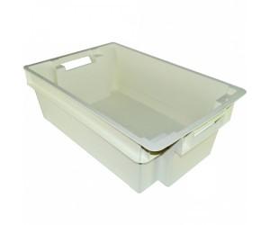Пластиковый ящик, 600x400x200 мм., с гладким дном, для рыбы
