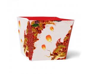 Изготовление бумажной коробки под лапшу ВОК с дизайном на заказ