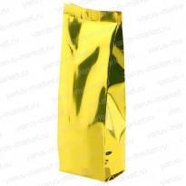 Пакет металлизированный, желтый, с центральным швом для чая,кофе