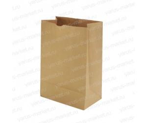 Крафт-пакет, 32×16×9.5см, бурый, для фасовки и хранения хлебобулочных изделий