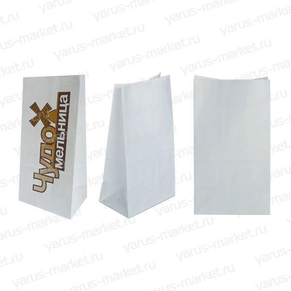 Белый бумажный крафт-пакет