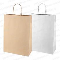 Крафт-пакет бумажный, с крученой ручкой, 32×24×11см., для хлеба