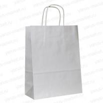 Крафт-пакет бумажный, с крученой ручкой, белый, 35×26×14см