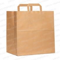 Крафт-пакет бумажный, с плоской ручкой, для переноса готовой продукции