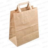 Крафт-пакет с плоской ручкой для хлебобулочных изделий