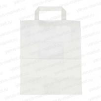 Крафт-пакет, белый, бурый, с плоской ручкой для хлеба