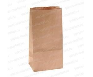 Крафт-пакет, 24×12×8см., для упаковки хлеба, сэндвичей, пончиков