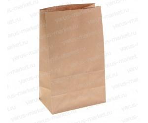 Крафт-пакет, 30×18×11см., бурый, для фасовки и хранения хлеба