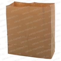 Крафт-пакет, 34×26×15см., бурый, для овощей, фруктов, хлебобулочных изделий