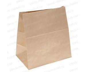 Крафт-пакет, 34×30×15см., бурый, для хранения и фасовки хлеба