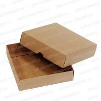 Картонная коробка 12×12×3 см для кондитерских изделий
