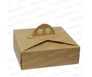 Картонная коробка для кондитерских изделий, закрытая