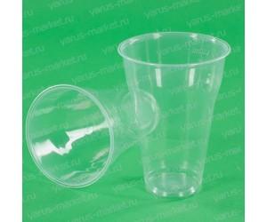 Пластиковый стаканчик, прозрачный, 200-500 мл