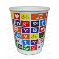 Бумажный стакан, с печатью «Социальные сети»
