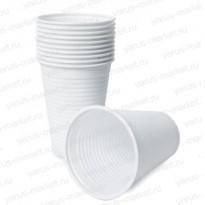 Пластиковый стакан, белый, 200 мл