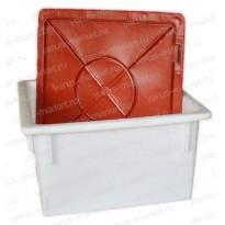 Пластиковый ящик, 385х385х225 мм., для кондитерских изделий