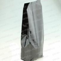 Пакет металлизированный, серый, с центральным швом для чая/кофе