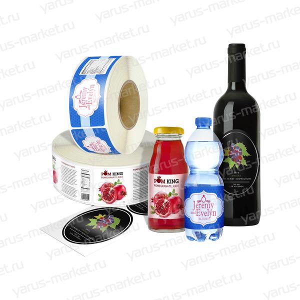 Печать этикеток для бутылок