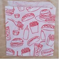 "Обертка для бургеров ""Приятного аппетита"", 300×300мм., 350×450мм"