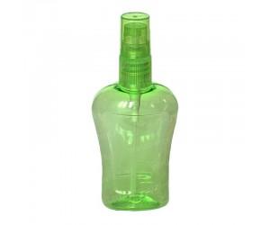 Пластиковый зеленый флакон со спреем