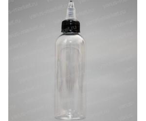 Флакон ПВД прозрачный с крышкой–капельницей для жидкости электронных сигарет