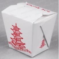 Коробка для лапши WOK, 750 мл., с печатью