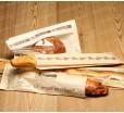 Бумажный крафт-пакет, 63,5х10 см, с окошком и перфорацией