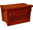 Износостойкий пластиковый ящик, 600x400x350 мм., для хлеба, с крышкой