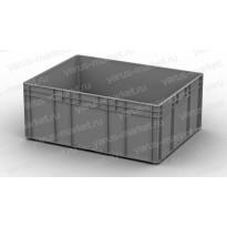 Серый пластиковый ящик 800x600x320 для разного вида товара