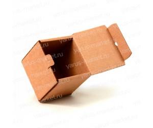 Коробка сложной высечки белая, бурая